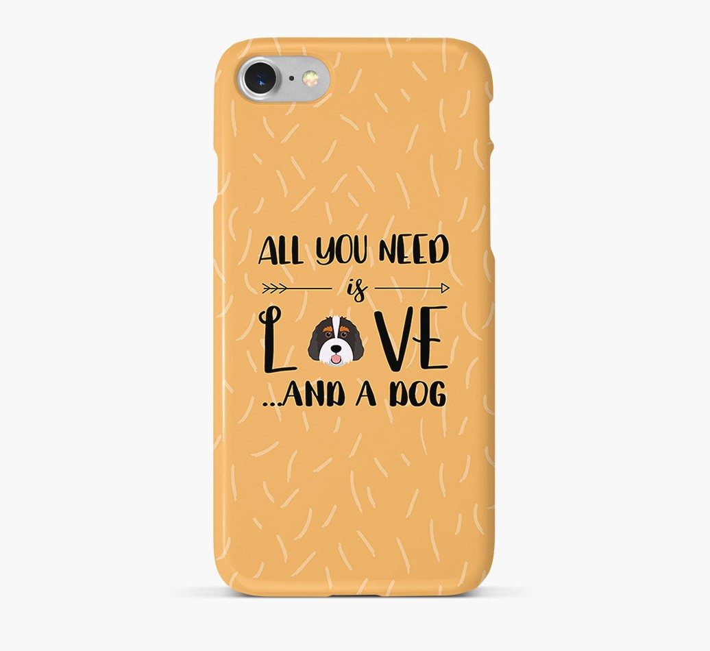 'All You Need is Love' Phone Case with Bernedoodle Icon