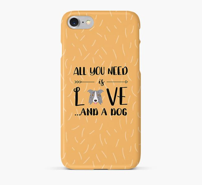 'All You Need is Love' Phone Case with Border Collie Icon