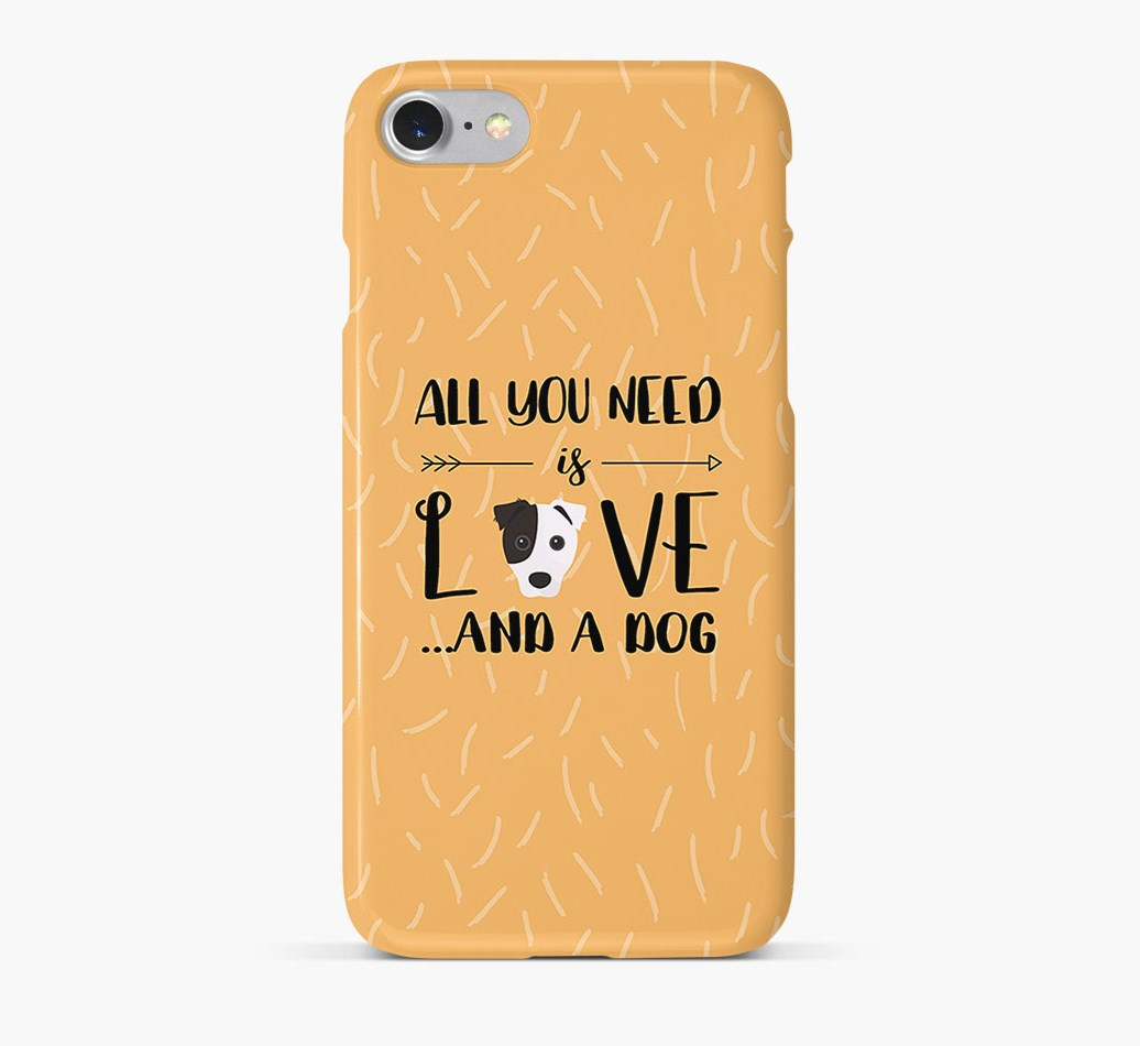 'All You Need is Love' Phone Case with Border Jack Icon