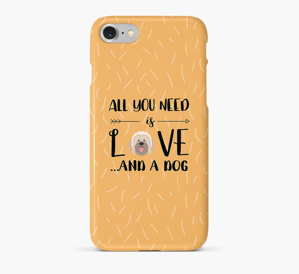 'All You Need is Love' Phone Case with Briard Icon