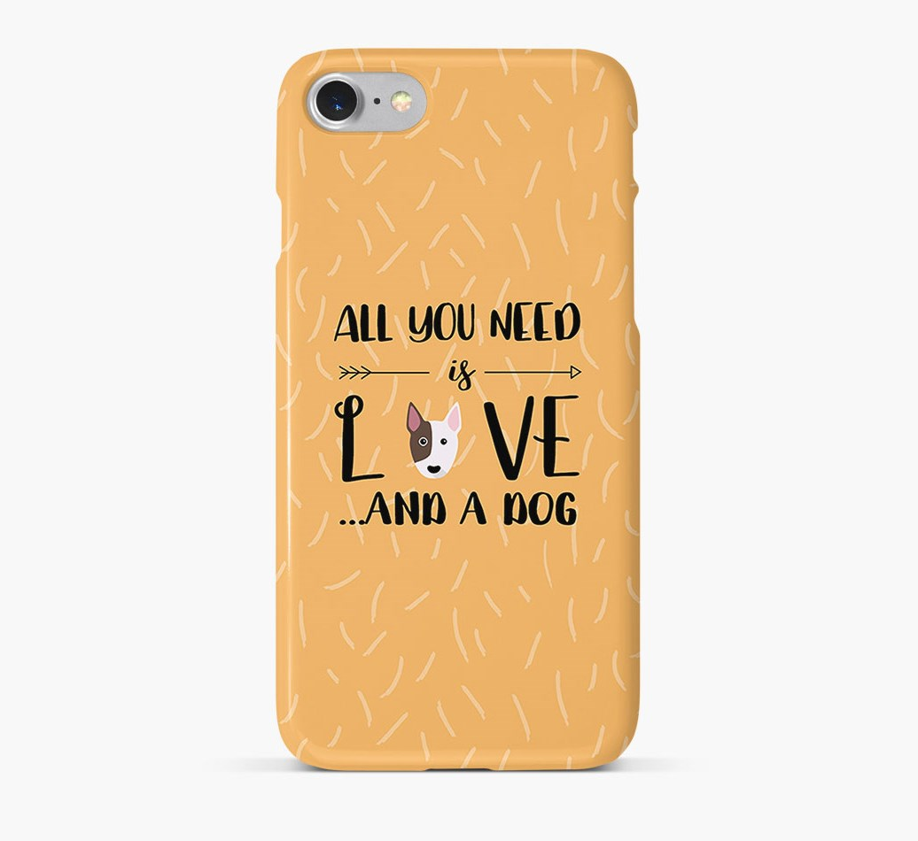 'All You Need is Love' Phone Case with Bull Terrier Icon