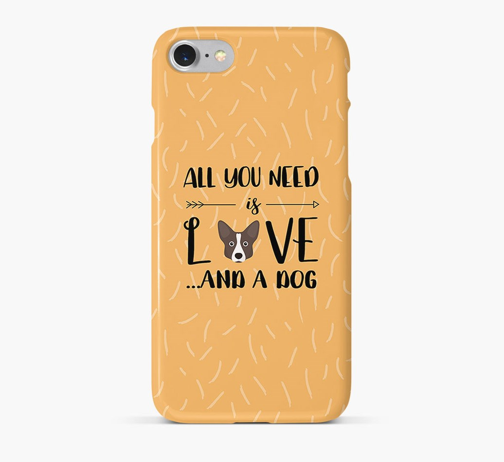 'All You Need is Love' Phone Case with Cardigan Welsh Corgi Icon