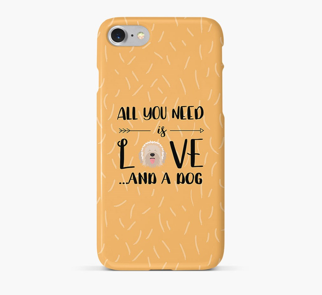 'All You Need is Love' Phone Case with Catalan Sheepdog Icon