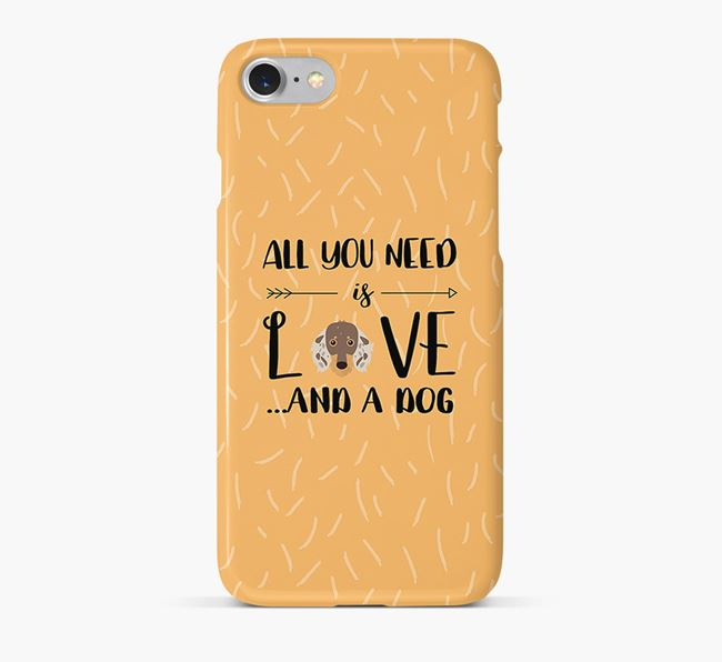 'All You Need is Love' Phone Case with Dachshund Icon