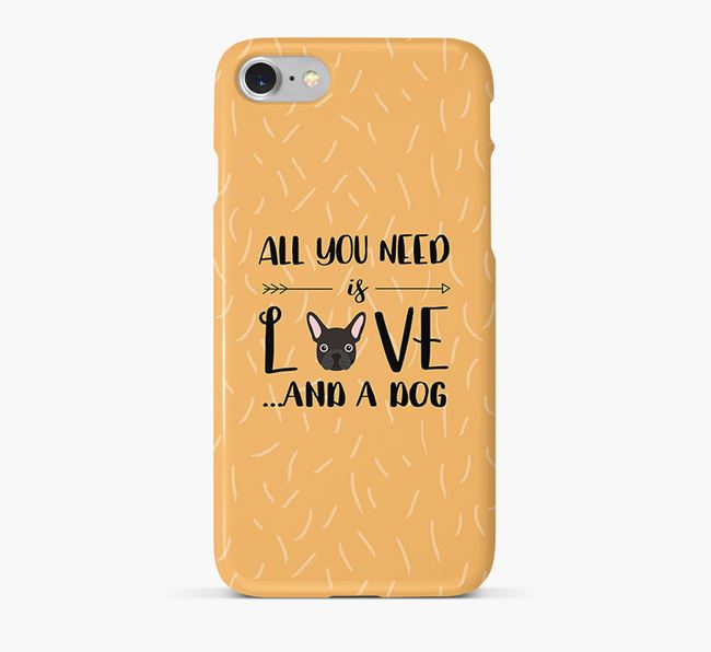 'All You Need is Love' Phone Case with French Bulldog Icon
