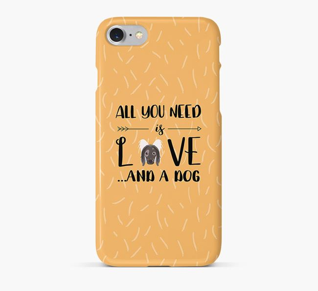 'All You Need is Love' Phone Case with Hairless Chinese Crested Icon