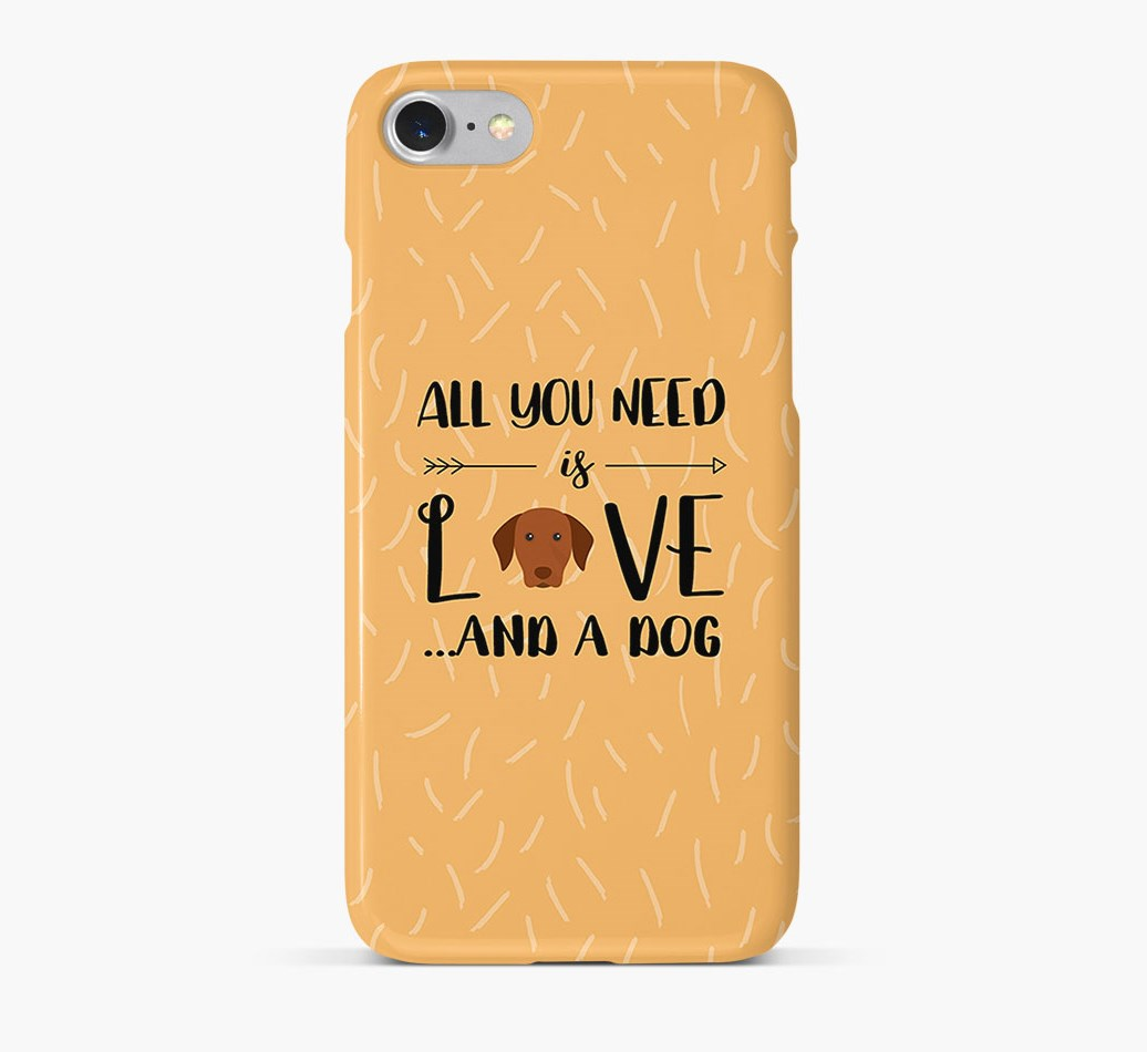 'All You Need is Love' Phone Case with Hungarian Vizsla Icon