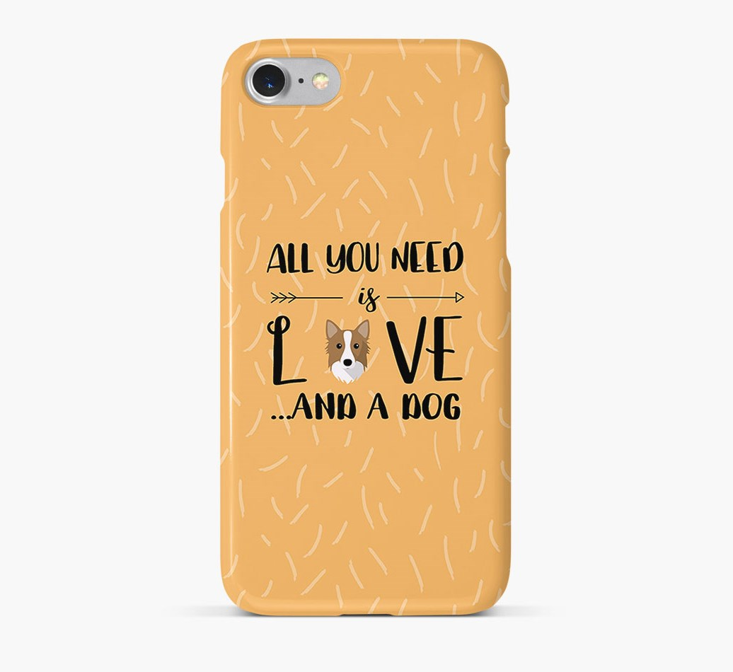'All You Need is Love' Phone Case with Icelandic Sheepdog Icon