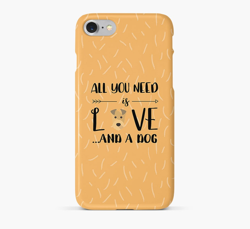 'All You Need is Love' Phone Case with Irish Terrier Icon