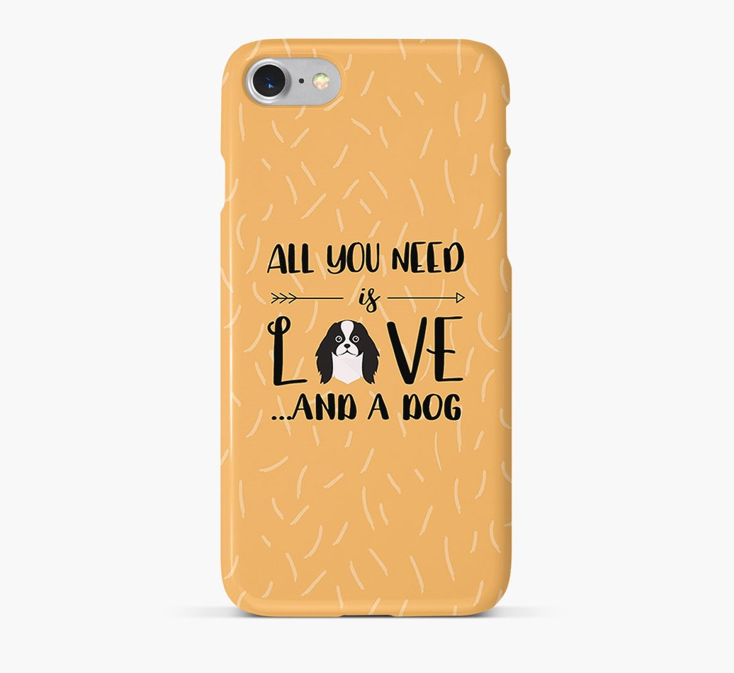 'All You Need is Love' Phone Case with Japanese Chin Icon