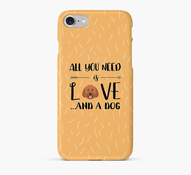 'All You Need is Love' Phone Case with Labradoodle Icon