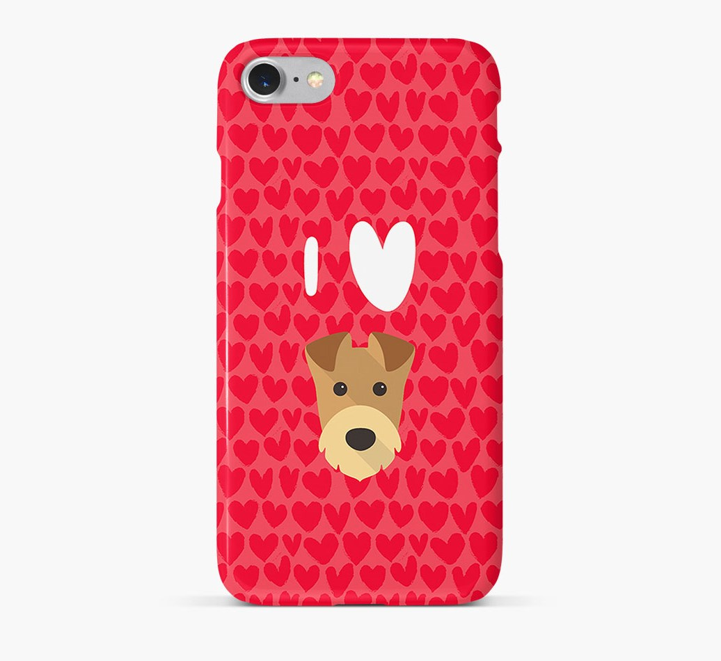 'I Heart {dogsName}' Phone Case with Airedale Terrier Icon