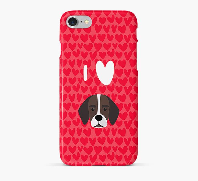 'I Heart {dogsName}' Phone Case with Bassugg Icon