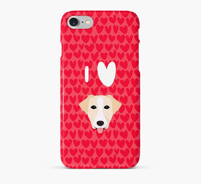 'I Heart {dogsName}' Phone Case with Borador Icon