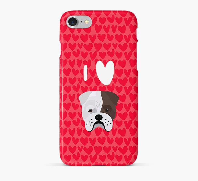 'I Heart {dogsName}' Phone Case with Bull Pei Icon