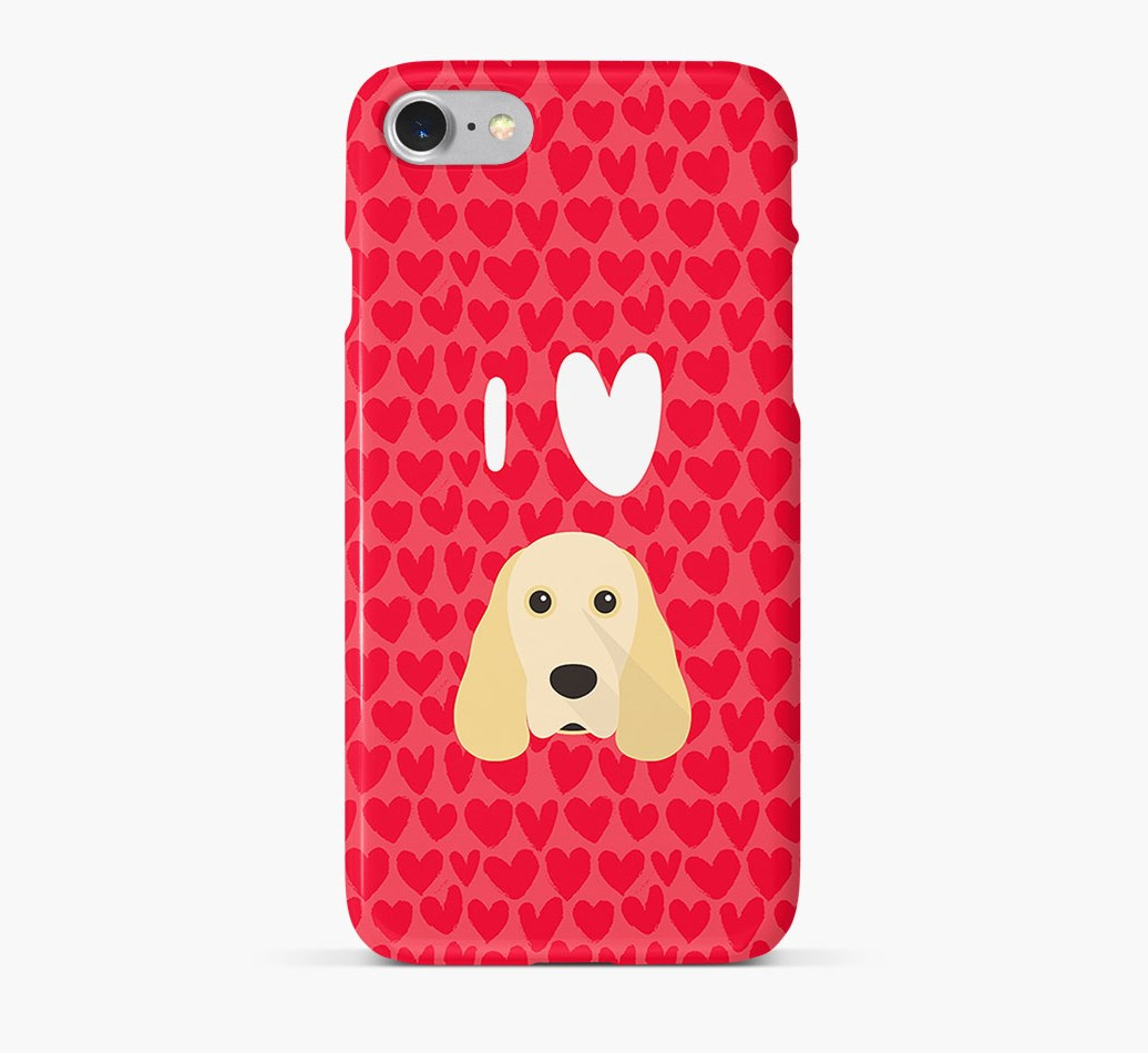 'I Heart {dogsName}' Phone Case with Cocker Spaniel Icon