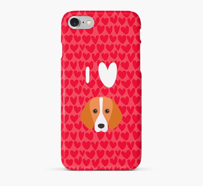 'I Heart {dogsName}' Phone Case with Foxhound Icon