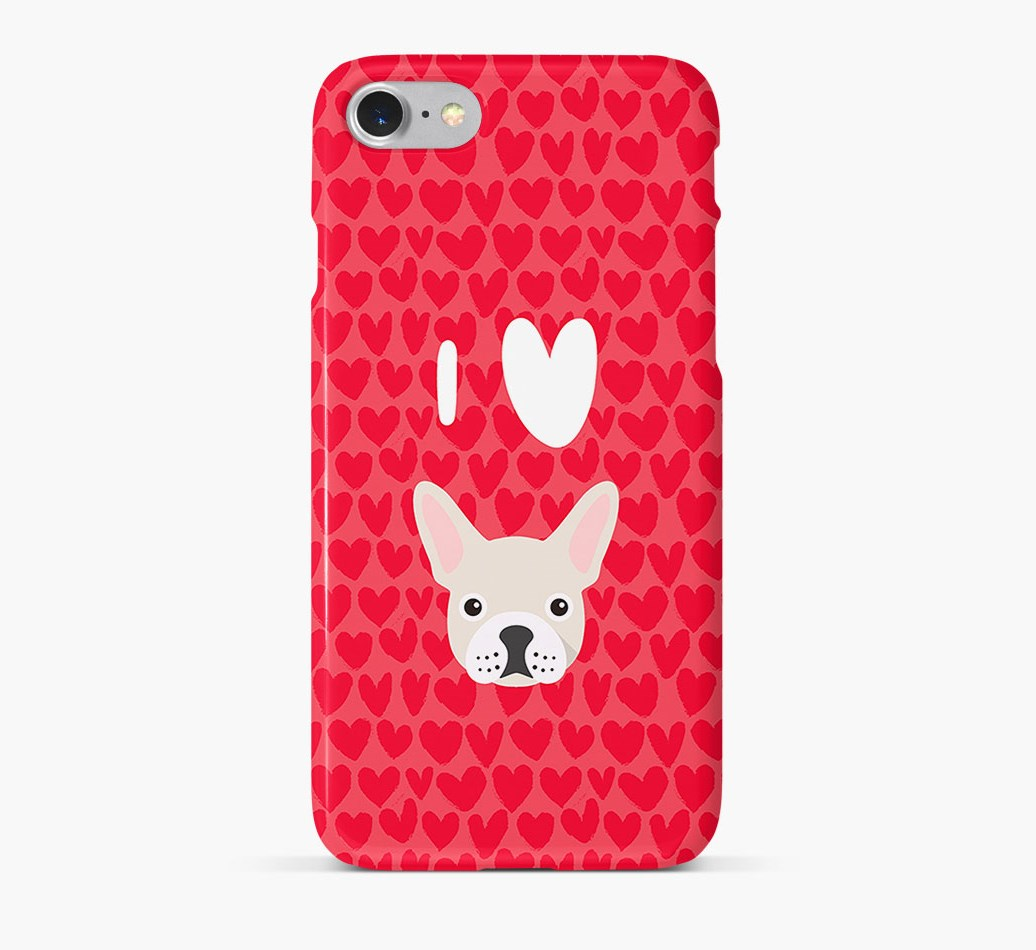 'I Heart {dogsName}' Phone Case with French Bulldog Icon