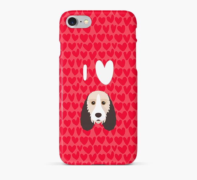'I Heart {dogsName}' Phone Case with Grand Basset Griffon Vendeen Icon