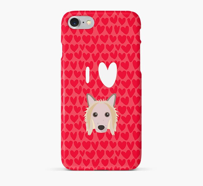 'I Heart {dogsName}' Phone Case with Hairless Chinese Crested Icon
