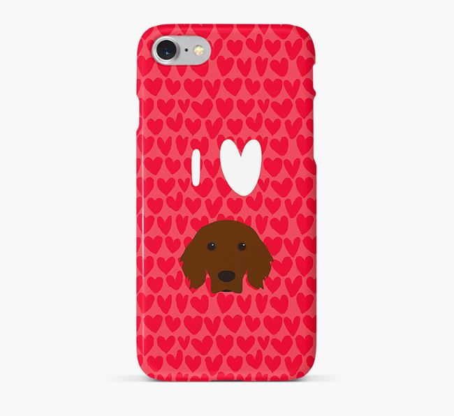 'I Heart {dogsName}' Phone Case with Irish Setter Icon