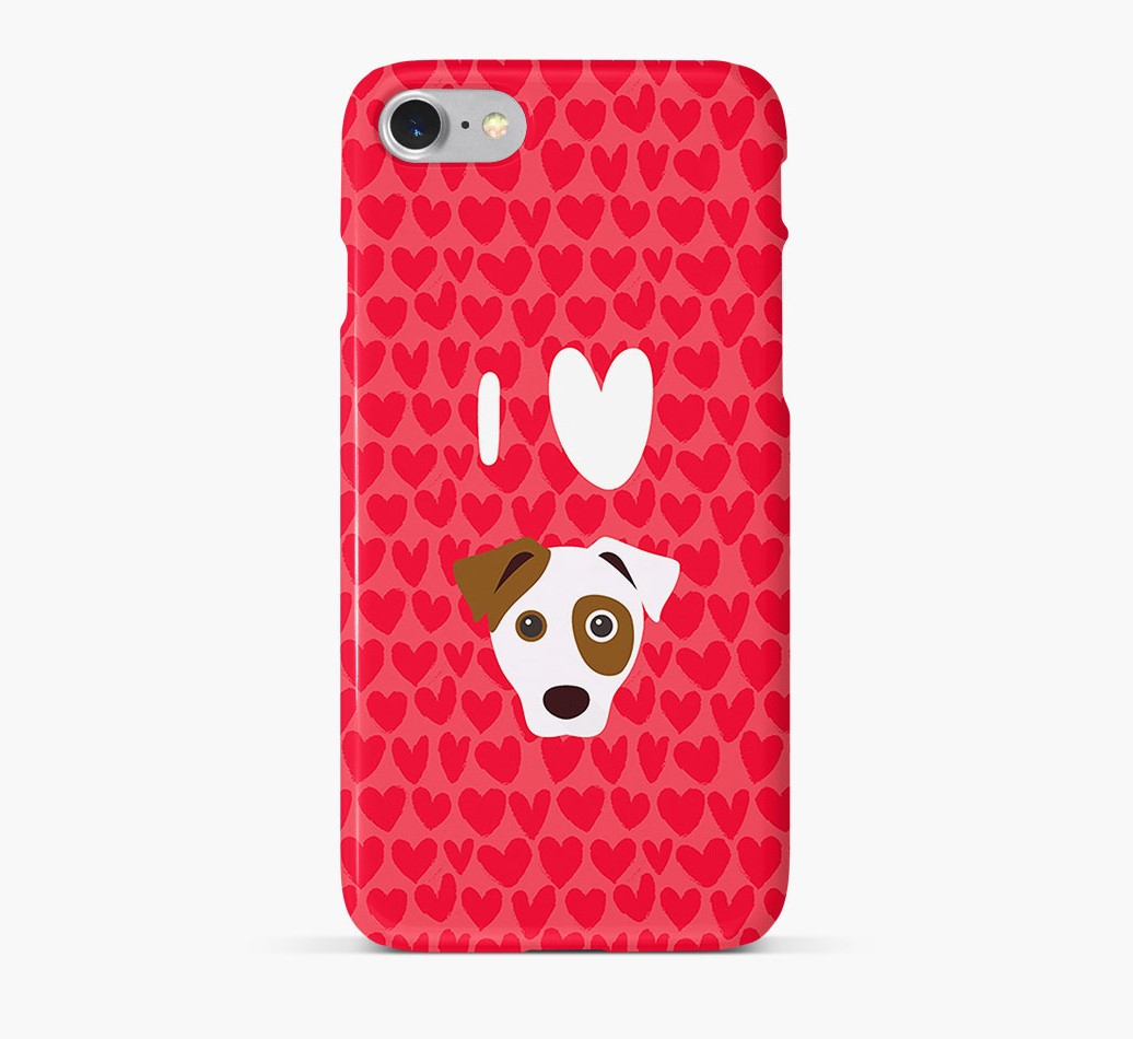 'I Heart {dogsName}' Phone Case with Jack Russell Terrier Icon