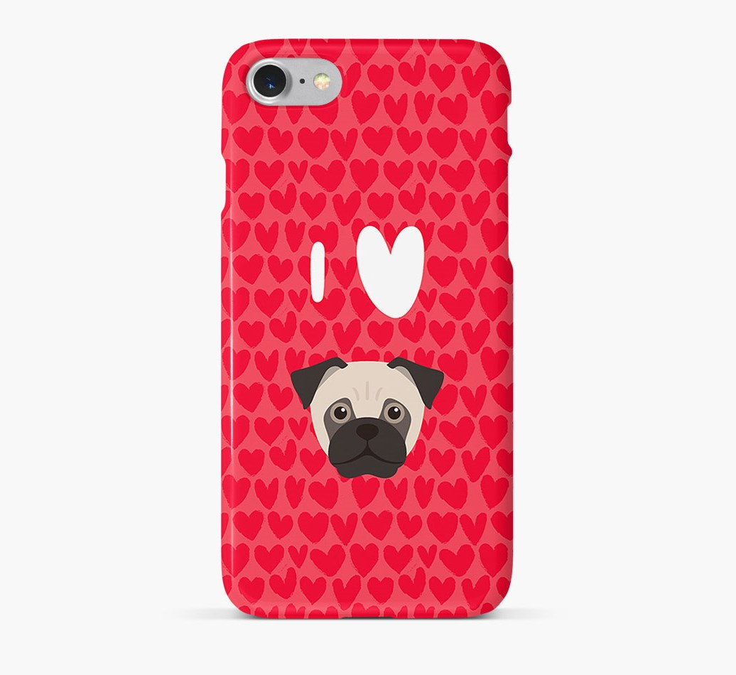 'I Heart {dogsName}' Phone Case with Jug Icon