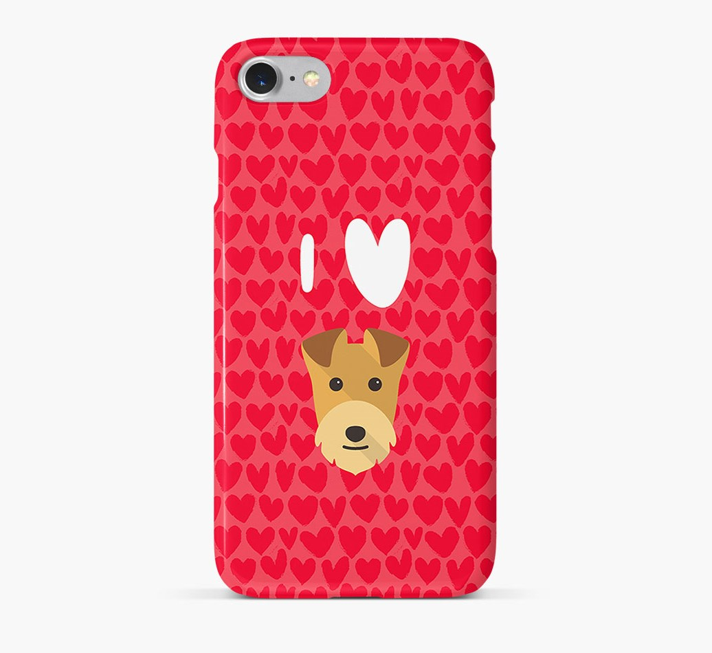'I Heart {dogsName}' Phone Case with Lakeland Terrier Icon