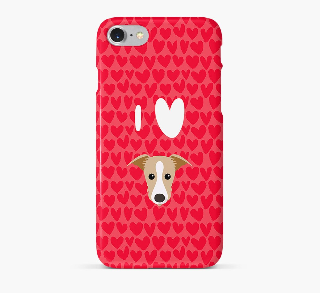 'I Heart {dogsName}' Phone Case with Lurcher Icon