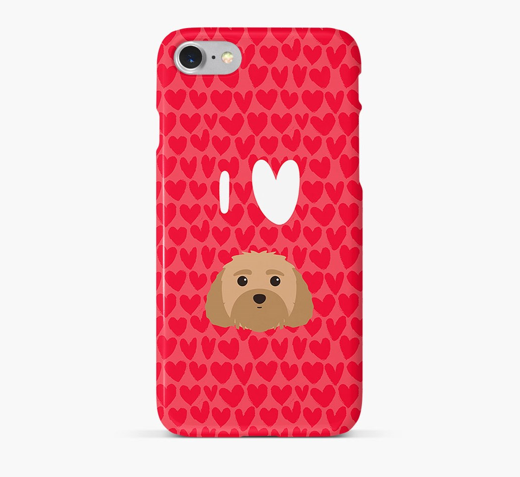 'I Heart {dogsName}' Phone Case with Malti-Poo Icon