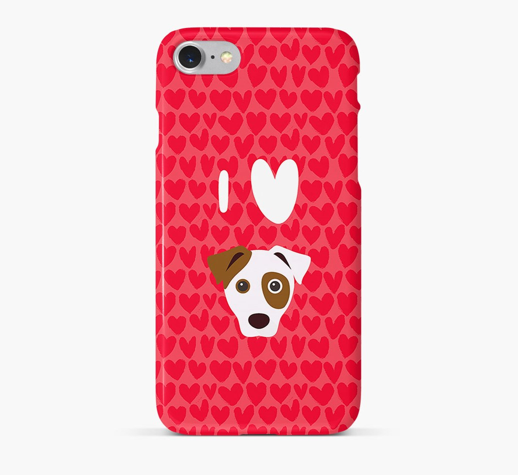'I Heart {dogsName}' Phone Case with Parson Russell Terrier Icon