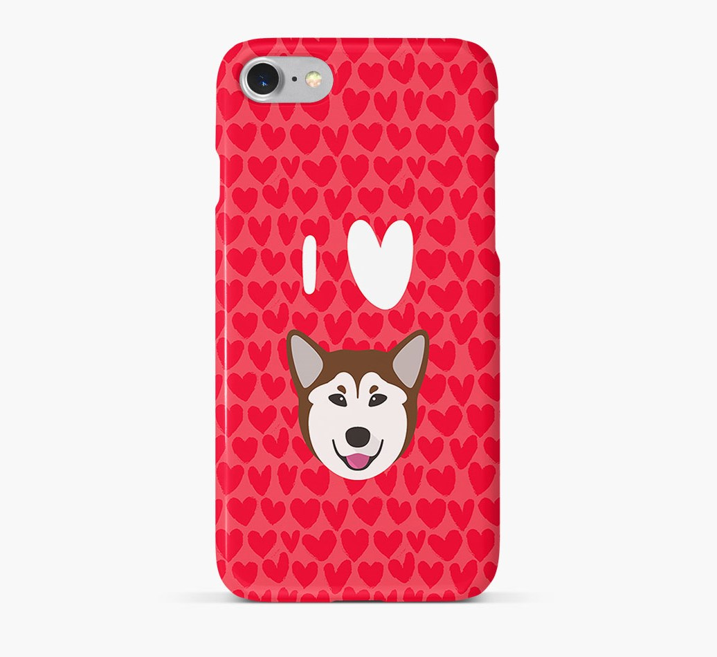 'I Heart {dogsName}' Phone Case with Rescue Dog Icon