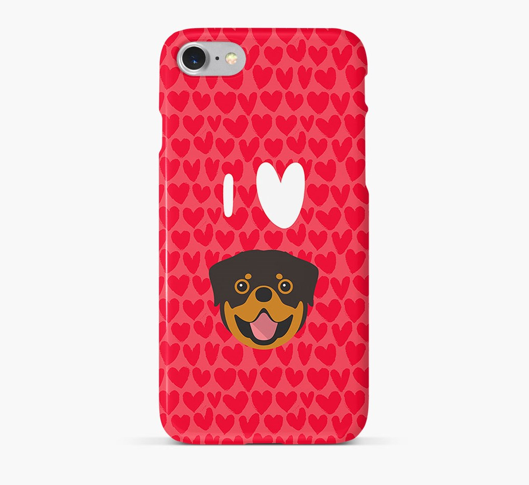 'I Heart {dogsName}' Phone Case with Rottweiler Icon