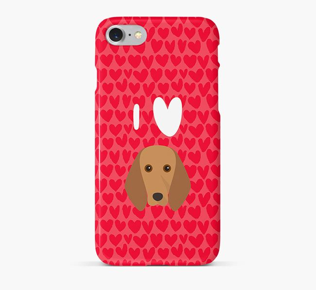 'I Heart {dogsName}' Phone Case with Segugio Italiano Icon