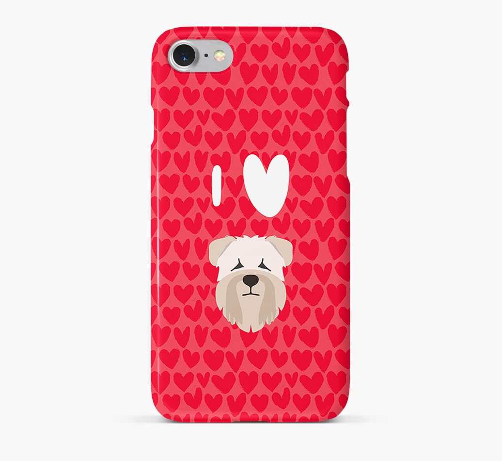 'I Heart {dogsName}' Phone Case with Soft Coated Wheaten Terrier Icon