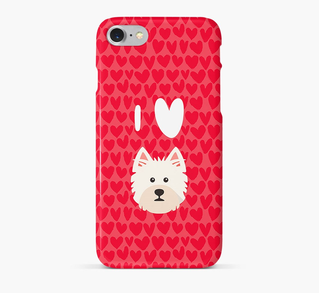 'I Heart {dogsName}' Phone Case with West Highland White Terrier Icon