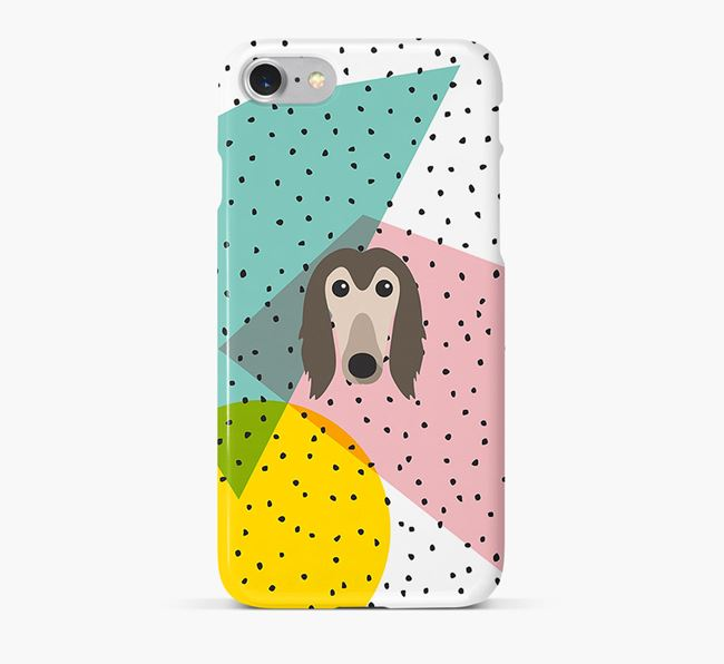 'Geometric' Phone Case with Afghan Hound Icon