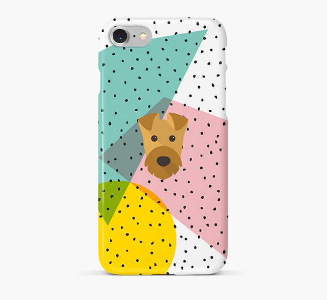 'Geometric' Phone Case with Airedale Terrier Icon