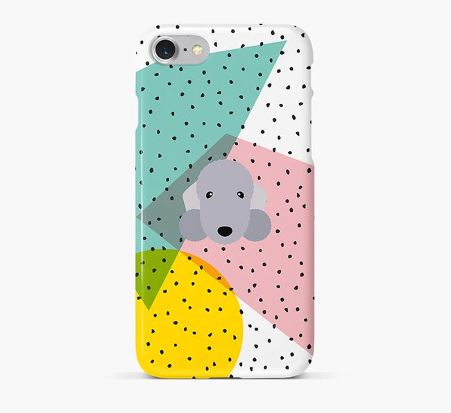 'Geometric' Phone Case with Bedlington Terrier Icon