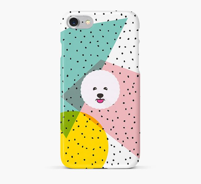 'Geometric' Phone Case with Bichon Frise Icon