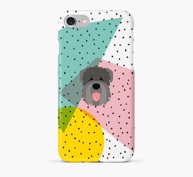 'Geometric' Phone Case with Black Russian Terrier Icon
