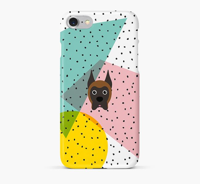 'Geometric' Phone Case with Boxer Icon