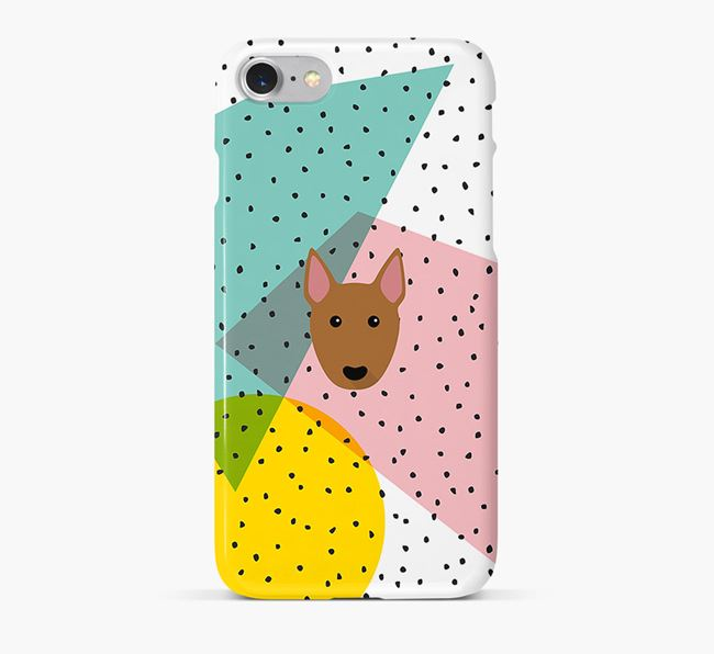 'Geometric' Phone Case with Bull Terrier Icon
