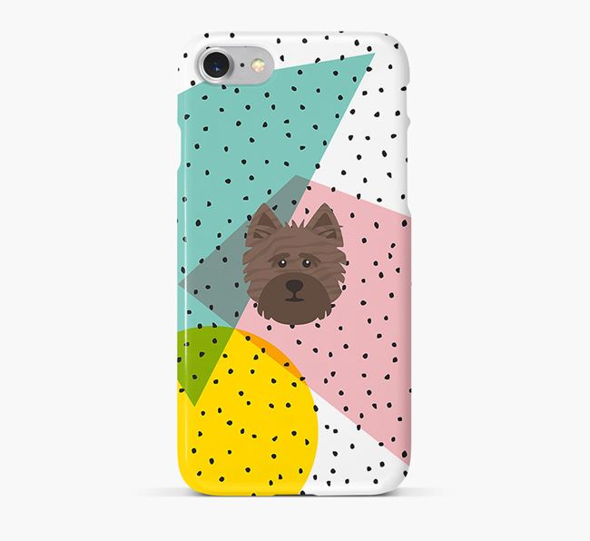 'Geometric' Phone Case with Cairn Terrier Icon