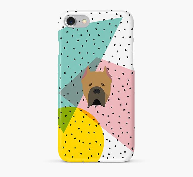 'Geometric' Phone Case with Cane Corso Italiano Icon