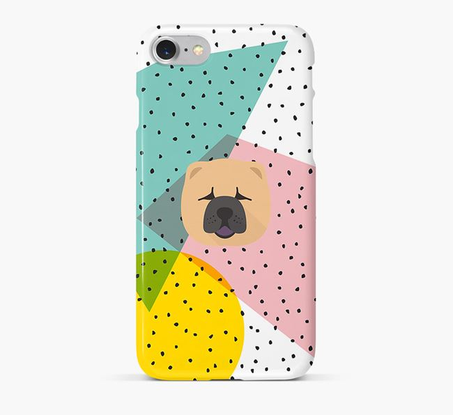 'Geometric' Phone Case with Chow Chow Icon
