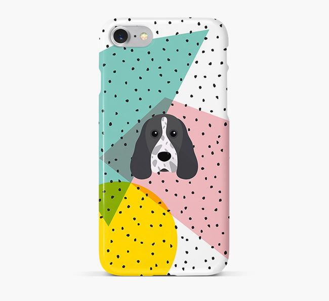 'Geometric' Phone Case with Cocker Spaniel Icon