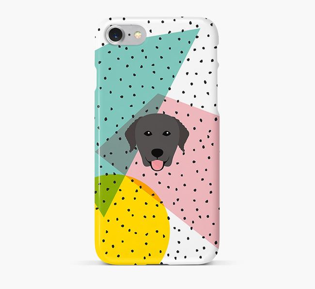 'Geometric' Phone Case with Curly Coated Retriever Icon