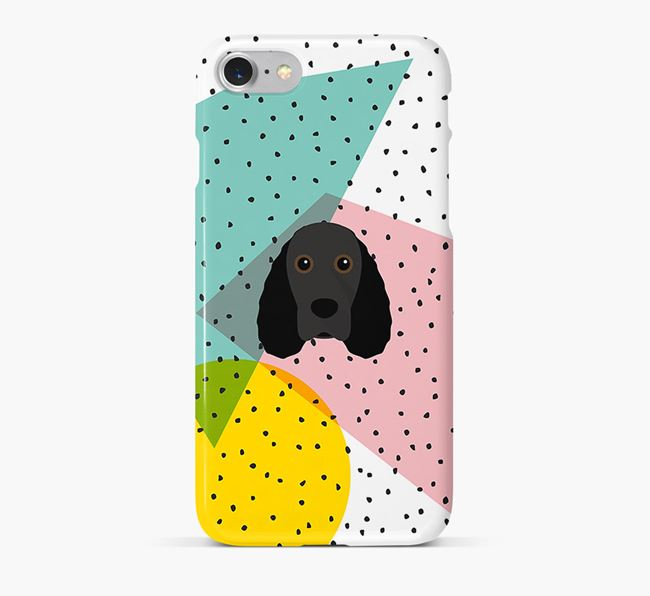 'Geometric' Phone Case with Field Spaniel Icon