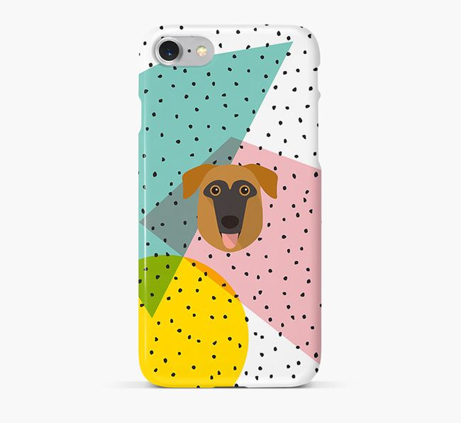 'Geometric' Phone Case with German Sheprador Icon